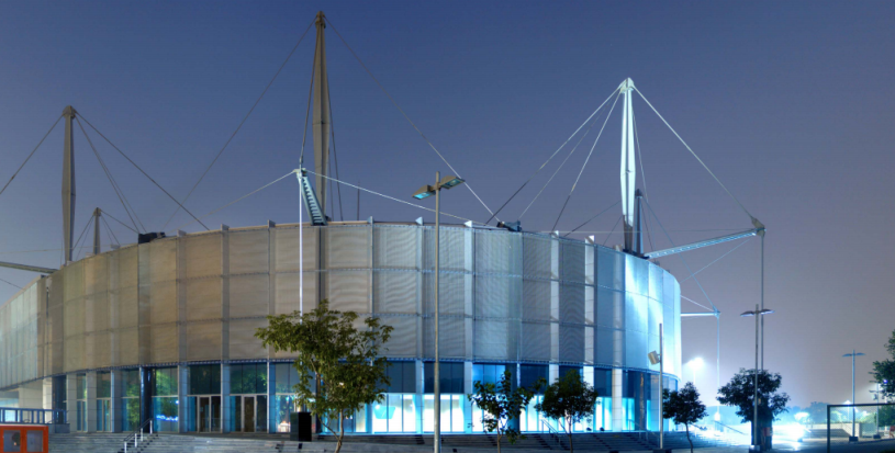 нержавеющая сталь в современном строительстве- стадион YANUMA в Индии
